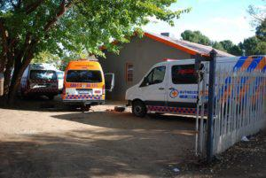 Repairs and maintenance on Buthelezi Emergency Medical Services take place in a backyard in a house that is the base for Buthelezi EMS in Bloemfontein.