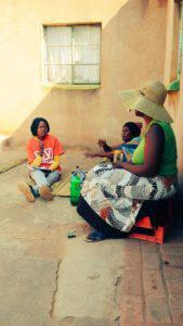 In Boekhouthoek a TAC branch member takes testimony from a community member struggling to access health services.