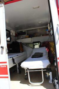 Some people have told us they have never seen an ambulance before