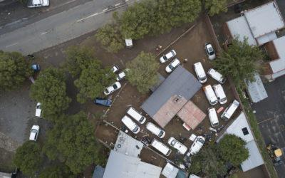 """Bloemfontein: An aerial shot of the Bloemfontein ambulance base, likely to  be the busiest and """"largest"""" base Buthelezi EMS runs in the Free State and  North ..."""