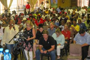 Residents give input on the NHI Bill in Klerksdorp on Saturday. PHOTO: ParliamentRSA. NHI public hearings North West