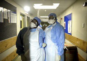 Strict protocol applies at Tygerberg Hospital's Isolation Unit for COVID-19 patients. PHOTO: Joyrene Kramer/Spotlight