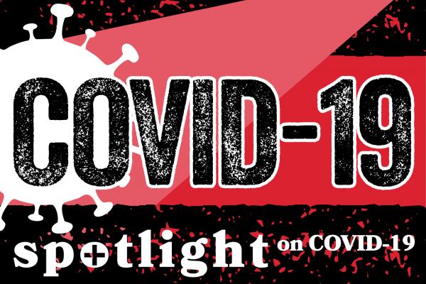 COVID logo spotlight