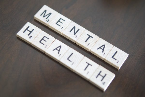 scrabble blocks spelling mental health