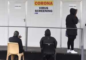 Patients waiting at a screening station at Site B Community Health Centre in Khayelitsha. PHOTO: Nasief Manie/Spotlight