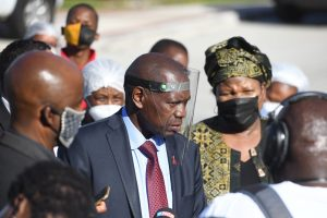 Minister of Health, Dr Zweli Mkhize during a visit to Livingstone Hospital last year.