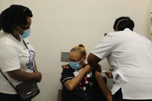 Healthcare workers at Tygerberg Hospital get their jabs. PHOTO: Western Cape Department of Health/Twitter
