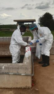 Collecting samples. Wastewater surveillance has become an important part of South Africa's COVID-19 monitoring systems. PHOTO: SAMRC