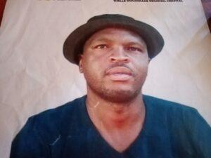 mugshot of the missing Yibanathi Mrawuzeli