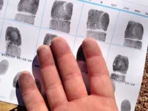 finger prints as secondary identifiers of remains.