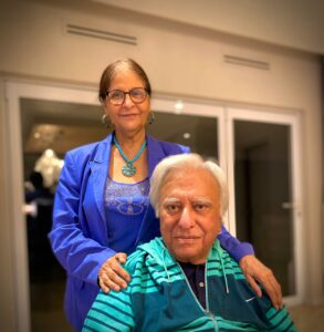"""Prof Hoosen Coovadia and his wife Dr Zubeida """"Zubie"""" Hamed at their home in La Lucia in Durban. PHOTO: Supplied"""