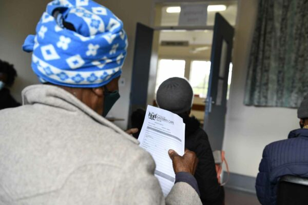 Gogo with her vaccine forms.VACCINATION OF 60 PLUS AT THE NKOSI MADZIKANE KAZULU HOSPITAL. Photo Black Star Images.