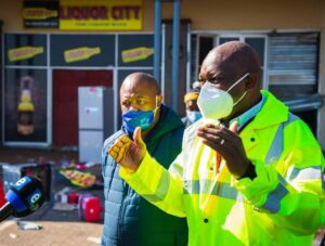 Premier David Makhura this week said many vaccination sites were impacted in the affected areas and had to temporarily close due to safety concerns by both the staff and members of the public. PHOTO: GP Health