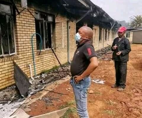 What we lost in in the fire. Health authorities in the North West province are still calculating the damage to Christiana District Hospital after a fire broke out last week. PHOTO: North West Health