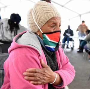 Princess Zibi, a pensioner from Khayelitsha says it will help if government brings the vaccination sites closer to the people. PHOTO: Nasief Manie/Spotlight