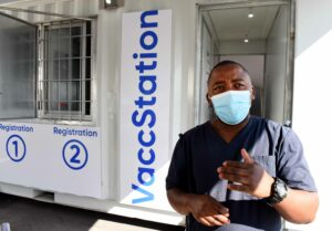 Wandisile Mzangwe is one of the healthcare workers administering vaccinations at the Site B CHC. PHOTO: Nasief Manie.